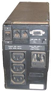 Rear view of a typical UPS