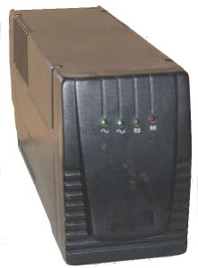 Front view of a typical UPS
